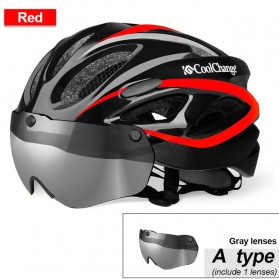 CoolChange Helm Sepeda EPS Windproof Visor Lens - 19020 - Black
