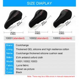 CoolChange Cover Jok Sepeda Comfy Cushion - 10001 - Black - 2