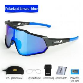 CoolChange Kacamata Sepeda Sport Cycling Glasses UV400 - 0098E - Black/Blue - 2