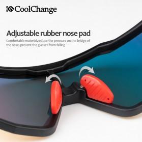 CoolChange Kacamata Sepeda Sport Cycling Glasses UV400 - 0098E - Black/Blue - 4