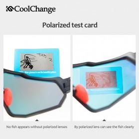 CoolChange Kacamata Sepeda Sport Cycling Glasses UV400 - 0098E - Black/Blue - 5