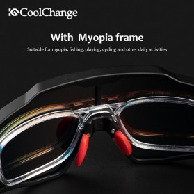 CoolChange Kacamata Sepeda Sport Cycling Glasses UV400 - 0098E - Black/Blue - 6
