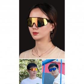 CoolChange Kacamata Sepeda Sport Cycling Glasses UV400 - 0098E - Black/Blue - 7