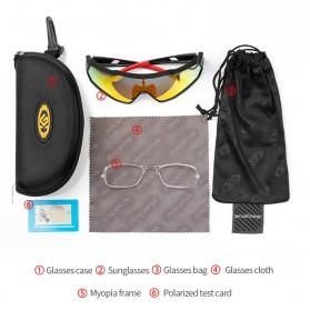 CoolChange Kacamata Sepeda Sport Cycling Glasses UV400 - 0098E - Black/Blue - 9