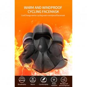 CoolChange Masker Full Face Balaclava Thermal Warm & Windproof Cycling Mask - 20046 - Black - 7