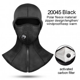 Topi Wanita Keren Kekinian - CoolChange Masker Full Face Balaclava Thermal Warm & Windproof Cycling Mask - 20045 - Black