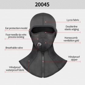 CoolChange Masker Full Face Balaclava Thermal Warm & Windproof Cycling Mask - 20045 - Black - 4