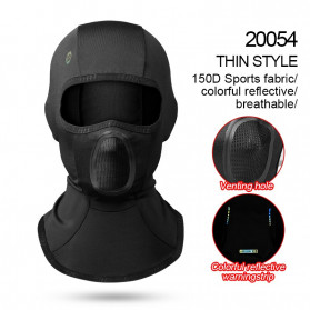 Topi Wanita Keren Kekinian - CoolChange Masker Full Face Balaclava Thermal Warm & Windproof Cycling Mask - 20054 - Black