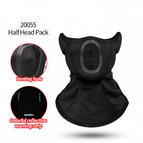 CoolChange Masker Half Face Balaclava Thermal Warm & Windproof Cycling Mask - 20055 - Black