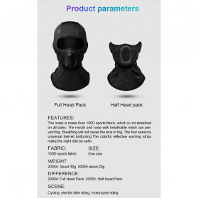 CoolChange Masker Half Face Balaclava Thermal Warm & Windproof Cycling Mask - 20055 - Black - 8