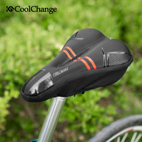 CoolChange Cover Jok Sepeda Memory Sponge Cushion - 1042 - Black - 6