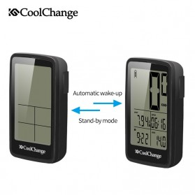 CoolChange Computer Speedometer Sepeda Wireless Odometer LED Monitor - 5702701 - Black - 5