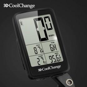 CoolChange Computer Speedometer Sepeda Wireless Odometer LED Monitor - 5702701 - Black - 6