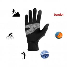 BOODUN Sarung Tangan Touchscreen - Size L/XL - Black - 2