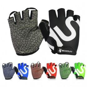 BOODUN Sarung Tangan Gym Half Finger - Size L - Black - 3