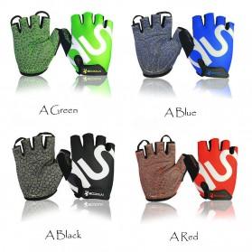 BOODUN Sarung Tangan Gym Half Finger - Size L - Black - 4