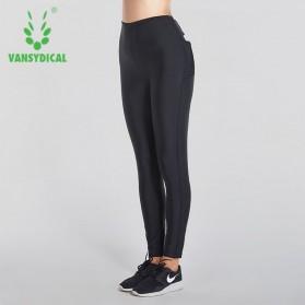 Vansydical Legging Olahraga Wanita Sauna Hot Shaper Slimming Waist - Size M - Black - 3