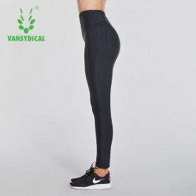 Vansydical Legging Olahraga Wanita Sauna Hot Shaper Slimming Waist - Size M - Black - 5
