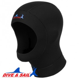 Dive&Sail Hood Scuba Diving Snorkeling Ultrathin Neoprene - Size S - Black - 5