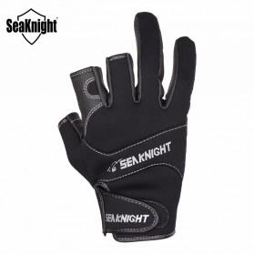 SeaKnight Sarung Tangan Mancing Anti Slip Size XXL - SK03 - Black