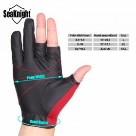 SeaKnight Sarung Tangan Mancing Anti Slip Size L - SK03 - Black - 2