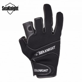 SeaKnight Sarung Tangan Mancing Anti Slip Size XL - SK03 - Black