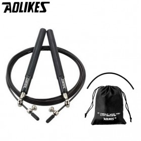 AOLIKES Tali Skipping Jump Rope Steel Wire Bearing - 3202 - Black
