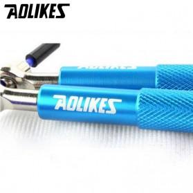 AOLIKES Tali Skipping Jump Rope Steel Wire Bearing - 3202 - Black - 5