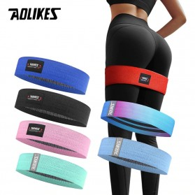 Fitness & Yoga - AOLIKES Booty Band Hip Circle Loop Resistance Band M - A-3603 - Black