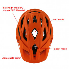 CAIRBULL Helm Sepeda MTB Trail XC EPS Foam - Orange - 6