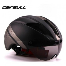 Helm Sepeda / Cycling Helmet - CAIRBULL Helm Sepeda Magnetic Removable Lens - Size L - Black/Gray