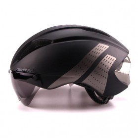 CAIRBULL Helm Sepeda Magnetic Visor Removable Lens - Size L - Black/Gray - 2