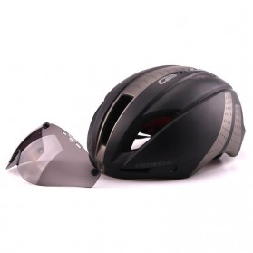 CAIRBULL Helm Sepeda Magnetic Visor Removable Lens - Size L - Black/Gray - 3