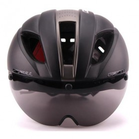 CAIRBULL Helm Sepeda Magnetic Visor Removable Lens - Size L - Black/Gray - 4