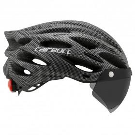 CAIRBULL Helm Sepeda Powermeter MTB Breathable Cycling Helmet Visor Removable Lens - CB26 - Black White - 3