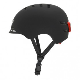 CAIRBULL Helm Sepeda Urban Commuter Cycling Bike Cap Size L with Tail Light - CB-28 - Black