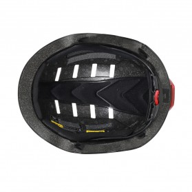 CAIRBULL Helm Sepeda Urban Commuter Cycling Bike Cap Size L with Tail Light - CB-28 - Black - 3