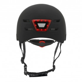 CAIRBULL Helm Sepeda Urban Commuter Cycling Bike Cap Size L with Tail Light - CB-28 - Black - 5