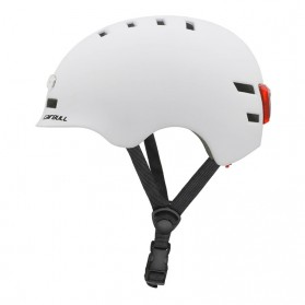 CAIRBULL Helm Sepeda Urban Commuter Cycling Bike Cap Size L with Tail Light - CB-28 - White