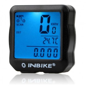 Inbike Speedometer Sepeda 14 Function LCD Display Bicycle - Black/Blue - 1