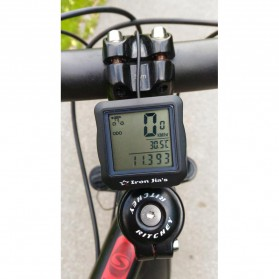 Inbike Speedometer Sepeda 14 Function LCD Display Bicycle - Black/Blue - 2