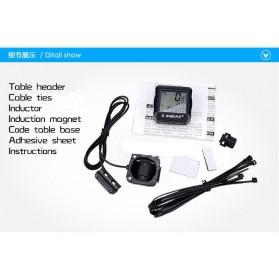Inbike Speedometer Sepeda 14 Function LCD Display Bicycle - Black/Blue - 9