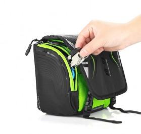 INBIKE Tas Sepeda Multifungsi Sporty Bicycle Bag Waterproof - H-9 - Black/Green - 10