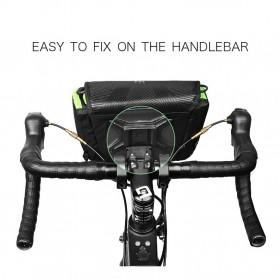 INBIKE Tas Sepeda Multifungsi Sporty Bicycle Bag Waterproof - H-9 - Black/Green - 4