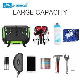 INBIKE Tas Sepeda Multifungsi Sporty Bicycle Bag Waterproof - H-9 - Black/Green - 9