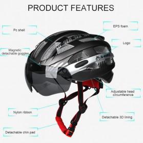 INBIKE Helm Sepeda MTB Ultralight Windproof Lens Size L - MX-3 - Silver - 2