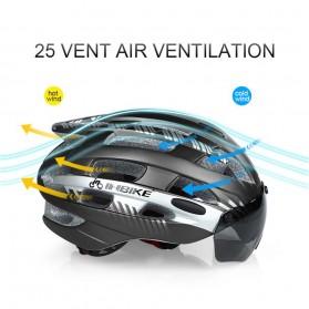 INBIKE Helm Sepeda MTB Ultralight Windproof Lens Size L - MX-3 - Silver - 3