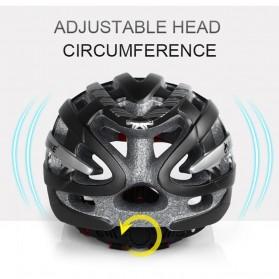 INBIKE Helm Sepeda MTB Ultralight Windproof Lens Size L - MX-3 - Silver - 4