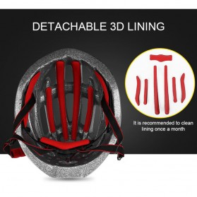 INBIKE Helm Sepeda MTB Ultralight Windproof Lens Size L - MX-3 - Silver - 6