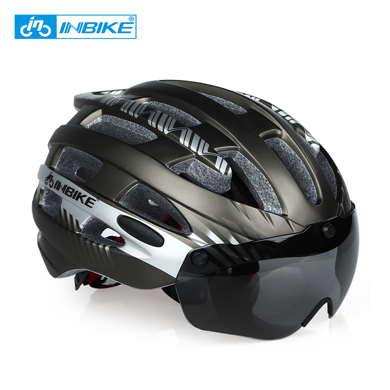 INBIKE Helm Sepeda MTB Ultralight Windproof Lens Size L